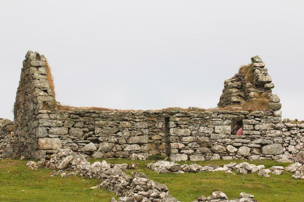Photo d'une ruine aux Shetlands